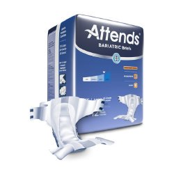 Attends Advanced HEAVY Absorbency Adult Diaper Brief XXL Bariatric DD50 48/Case (Bariatric Adult Diapers)