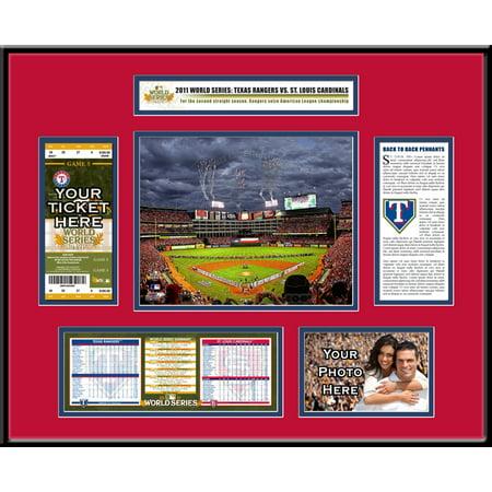 2011 Mlb World Series Ticket Frame   Texas Rangers