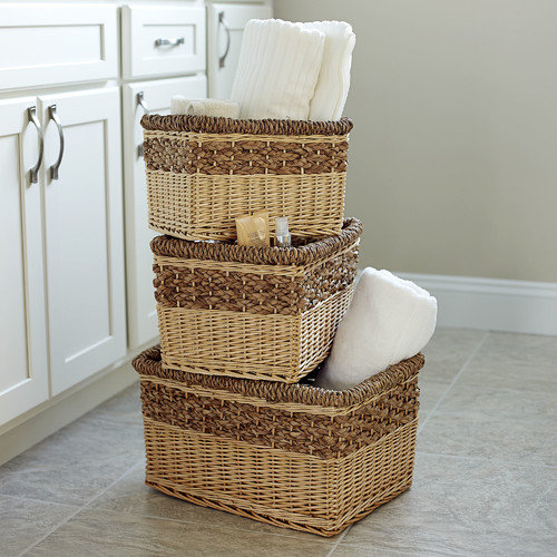 Household Essentials 3 Piece Starling Decorative Storage Basket Set