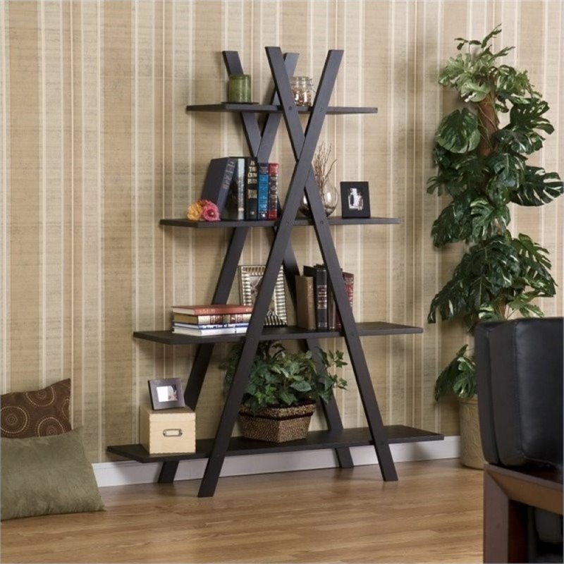 "Bowery Hill ""X"" Etagere in Black by Bowery Hill"