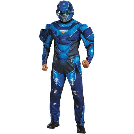 Blue Spartan Muscle Men's Adult Halloween Costume - Spartan Halloween Costume 300