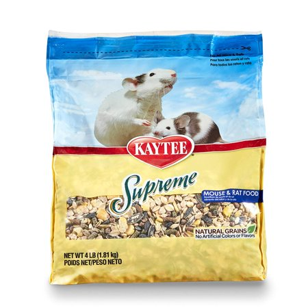 Supreme Mouse And Rat Food, 4-Lb Bag, A tasty blend formulated to support your rodent's health By Kaytee