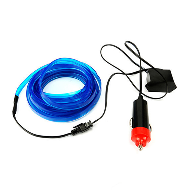 1M Flexible Neon Light Car EL Wire Rope Tube LED Strip Waterproof Party Decor Lamp With 12V Controller
