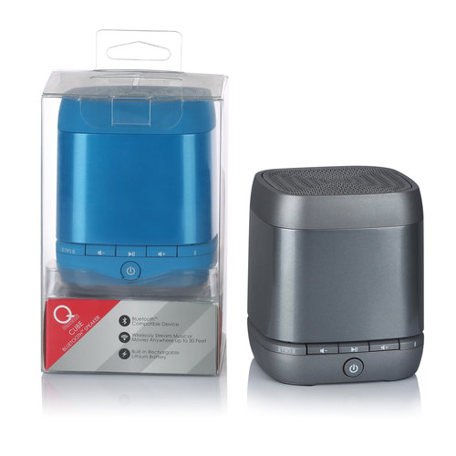 Q Experience Mono Bluetooth Speaker, Blue