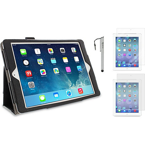 rooCASE iPad Air Dual Station Folio Case-3-in-1 Bundle