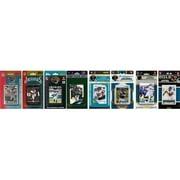 CandICollectables JAGUARS914TS NFL Jacksonville Jaguars 9 Different Licensed Trading Card Team Sets