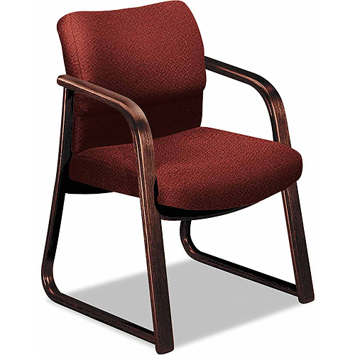 Hon 2900 Series Guest Arm Chair, Mahogany Finish Wood