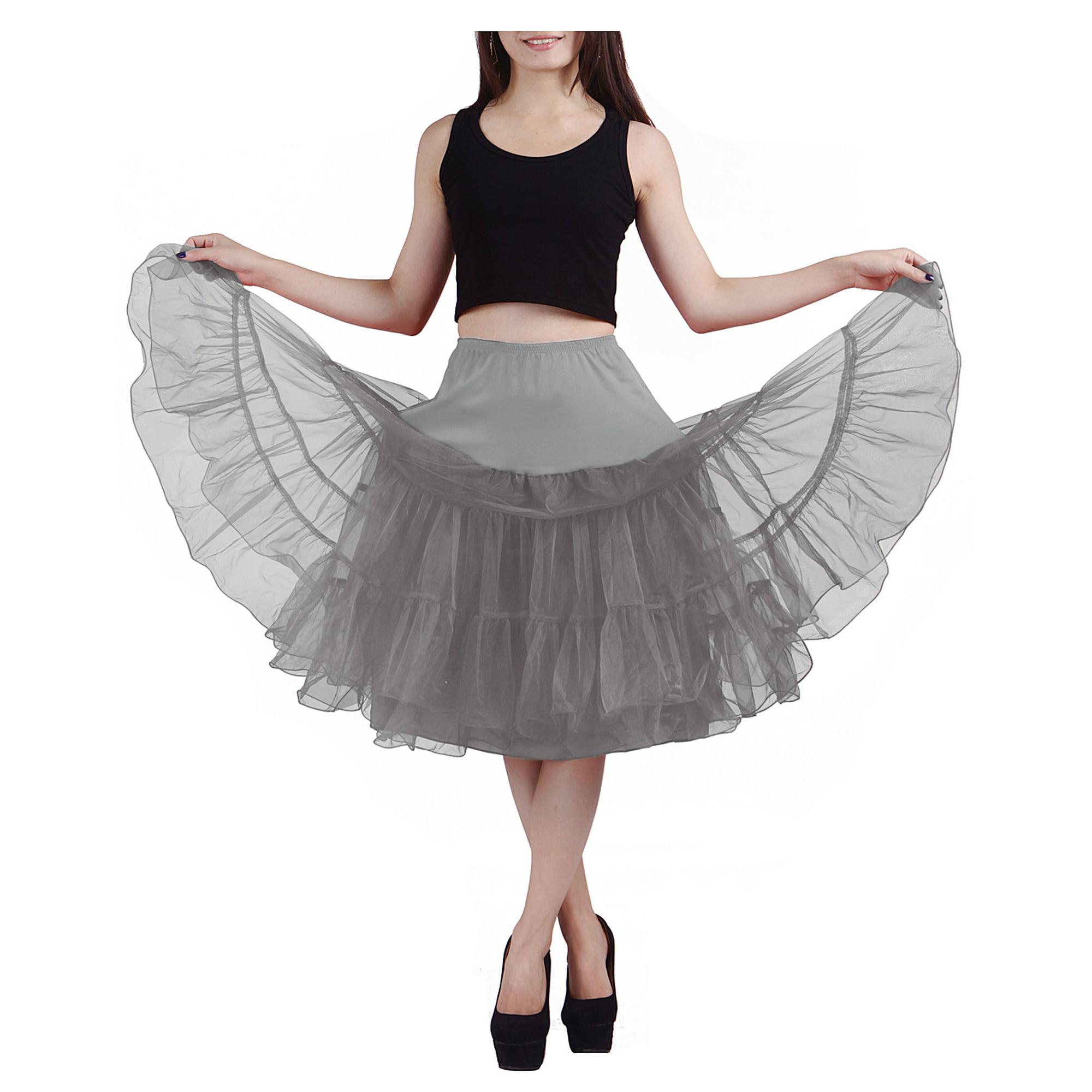a047684b1e90 HDE Women's Petticoat Vintage Slip Rockabilly Swing Dress Underskirt Tutu  Skirt (Small, Yellow) | Walmart Canada