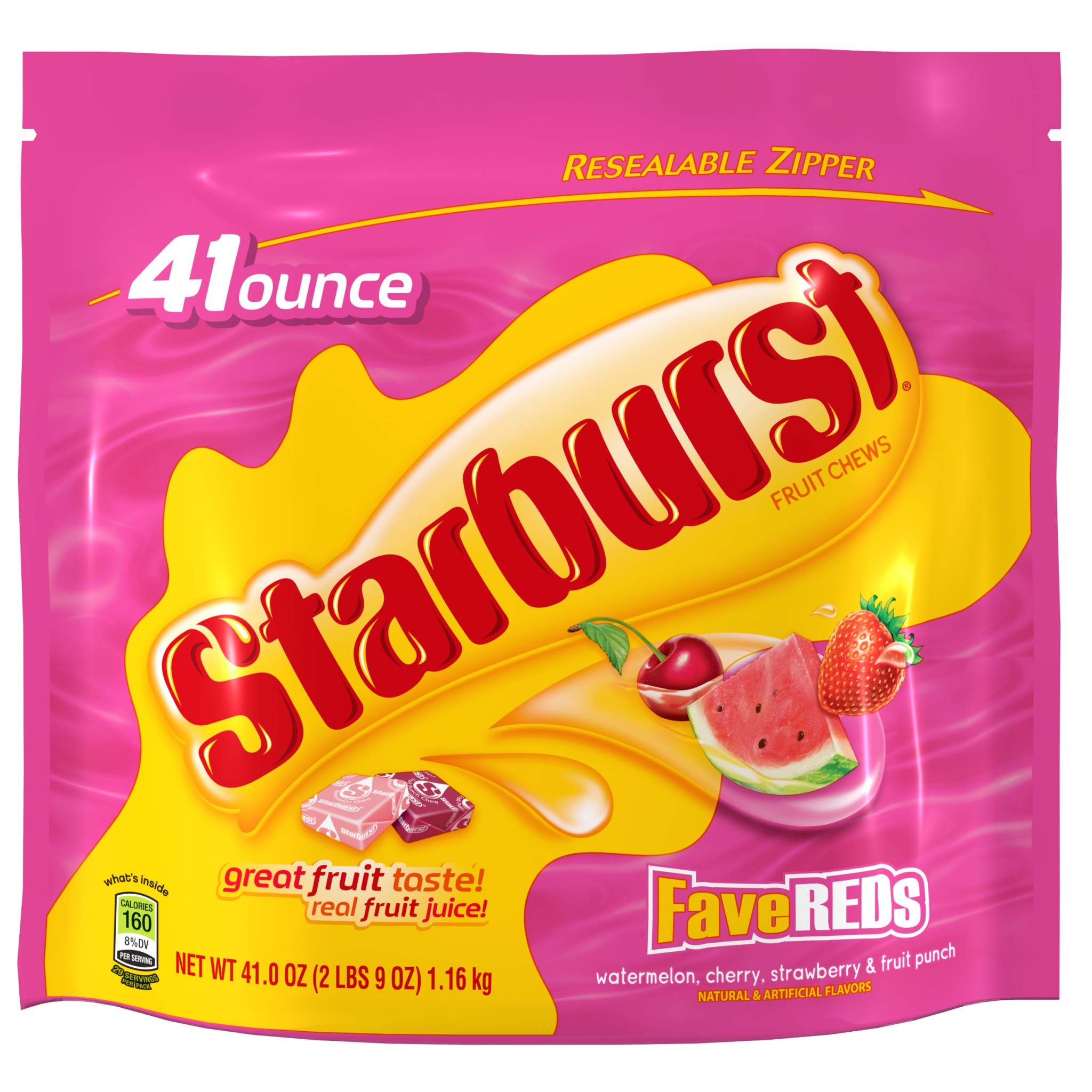 Starburst FaveREDS Fruit Chews Candy, 41 Oz.