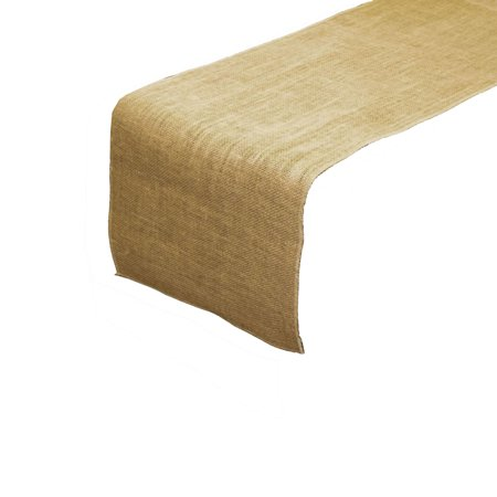 LA Linen Natural Burlap Table Runner 14-Inch by 108-Inch, Pack-4