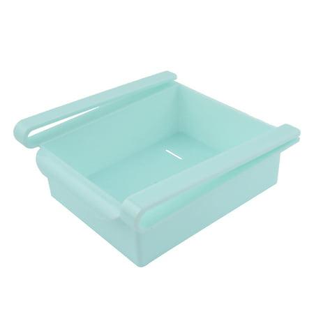 Refrigerator Freezer Plastic Drawer Type Expand Space Box Bin Tray Blue