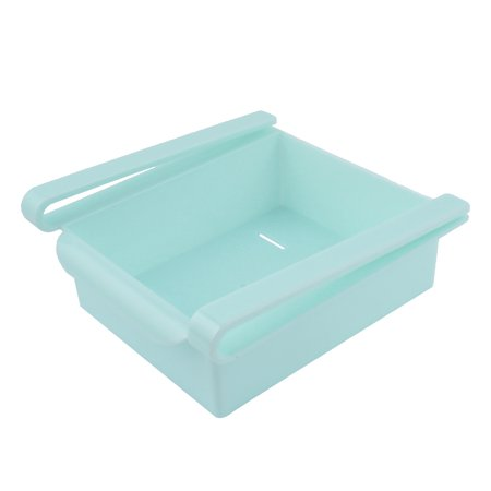Refrigerator Freezer Plastic Drawer Type Expand Space Box Bin Tray Blue