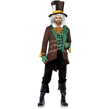 Leg Avenue Men's Classic Mad Hatter Wonderland Costume](Crazy Mad Hatter Costume)