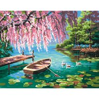 """Paint Works Paint By Number Kit 14""""X11"""" Willow Spring Beauty"""