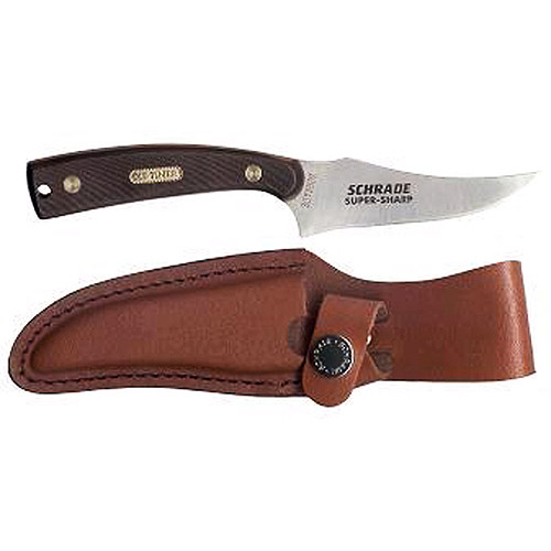 Sharpfinger Old Timer Fixed Blade Knife with Leather Sheath