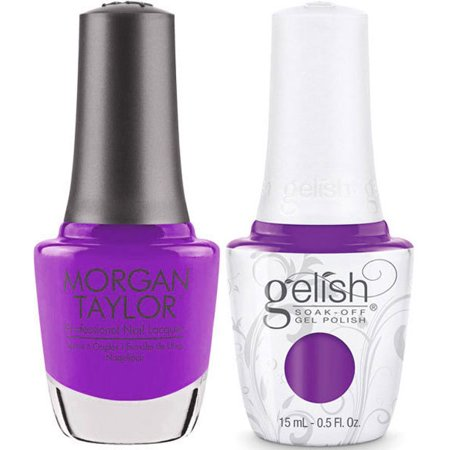 HARMONY NAIL GELISH YOU GLARE, I GLOW #1110914 + MATCHING MORGAN TAYLOR POLISH