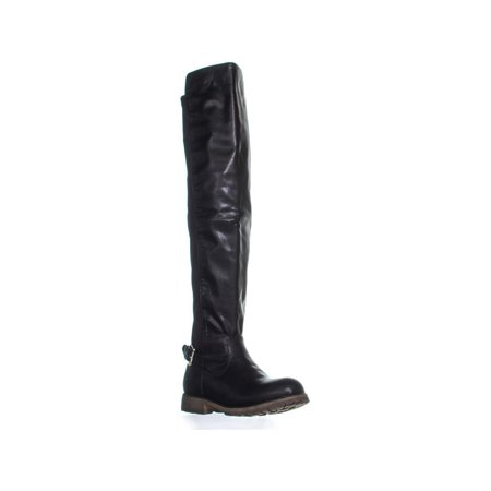 Dirty Laundry Womens Ready to Go Over-The-Knee Faux Leather Riding - Go Go Boots 1960