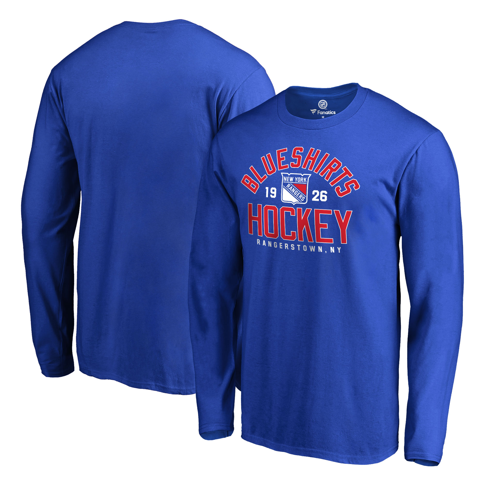 New York Rangers Fanatics Branded Hometown Collection Blueshirts Long Sleeve T-Shirt - Royal