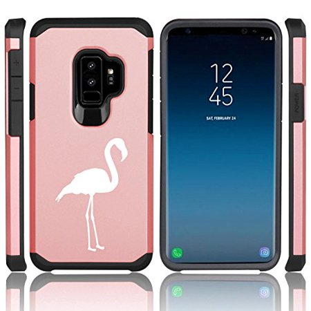 - For Samsung Galaxy Shockproof Impact Hard Soft Case Cover Flamingo (Rose Gold for Samsung Galaxy S9+ (Plus))