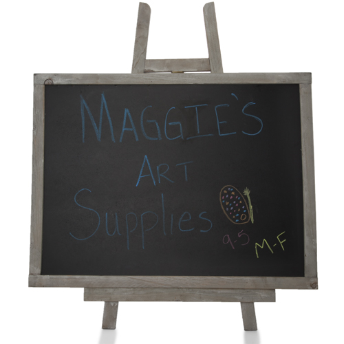 Wooden Chalkboard with Easel Large 16in by