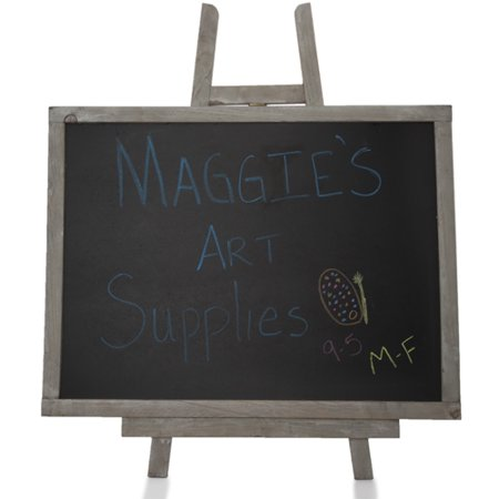 Large Chalk Board (Wooden Chalkboard with Easel - Large)