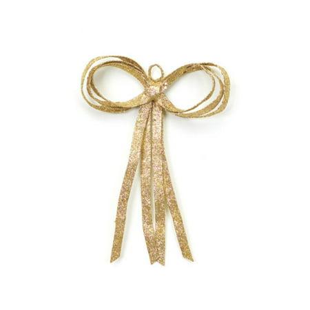 Gold Glitter Bow (12