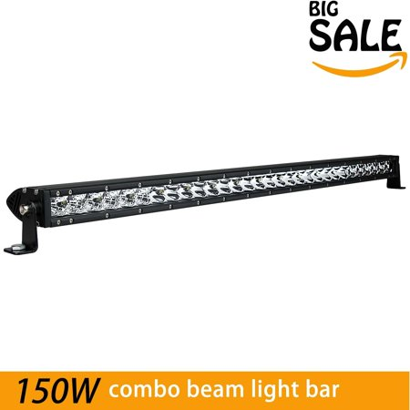 - 31-Inch Single Row CREE LED Lights - 150W 10500LM Spot Flood Combo Light Bar Fog Driving Lamp Great for Off-Road Jeeps, SUVs, Boats and More, Waterproof IP67-2 Year Warranty