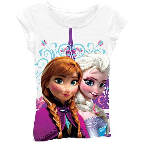 Disney Frozen Girls' Anna & Elsa Graphic Tee