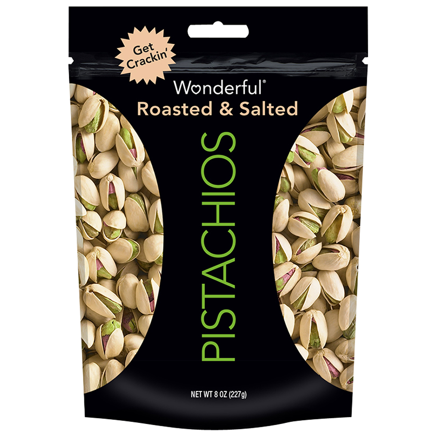 Wonderful Roasted & Salted Pistachios, 8 Oz