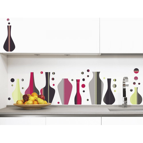 Smart Deco 54 Piece Vases Wall Decal