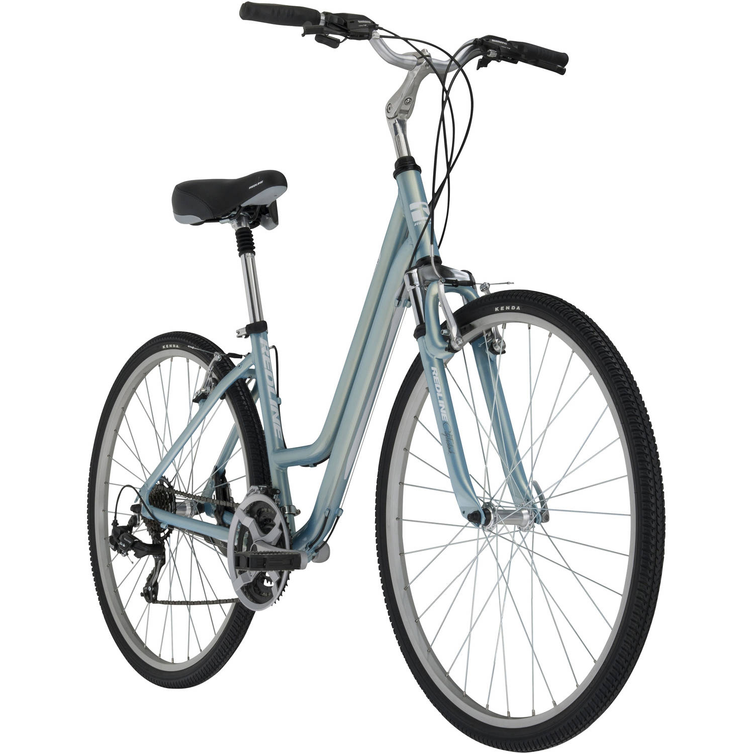 700c Redline Bikes Madrona Women's Specific Hybrid Bike, Light Blue
