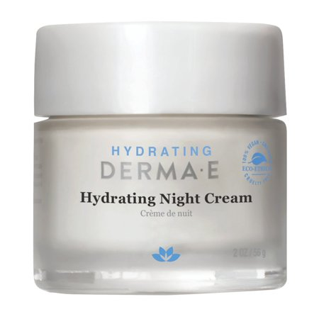 Derma E Hydrating Night Face Cream, Hyaluronic Acid, 2