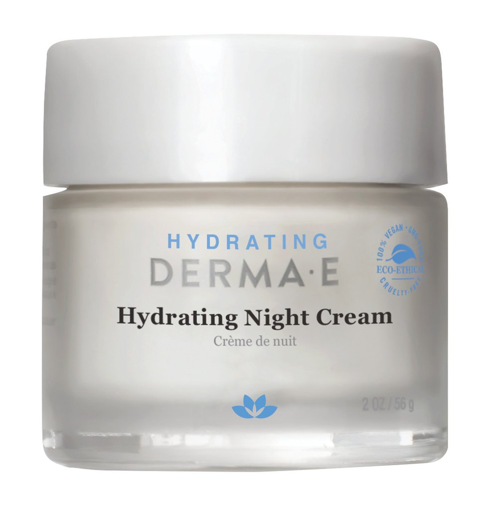 Derma E Hydrating Night Creme, Hyaluronic Acid, 2 Oz
