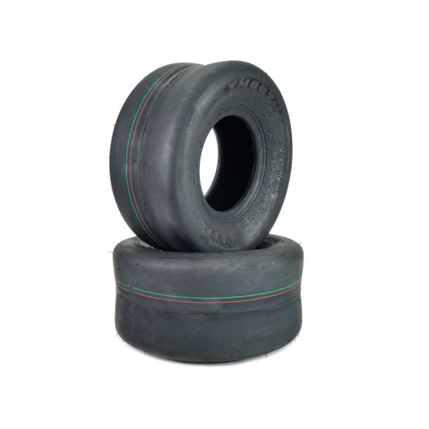 (2) OTR 13x6.50-6 Smooth Tires 4 Ply for Lawn Garden Tractor - Popular Zero Turns