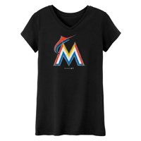 MLB Miami MARLINS TEE Short Sleeve Girls 50% Cotton 50% Polyester Team Color 7 - 16