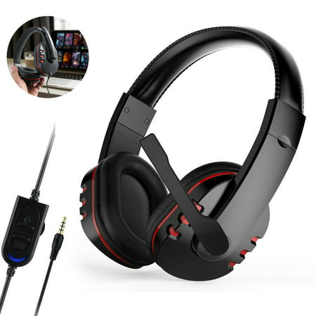 EEEKit Gaming Headset with Mic for PS4 PC Mac Laptop New Xbox One, Professional Surround Stereo Sound Noise Reduction Gaming Headphones with Mic & Soft Memory Earmuffs for Microphone