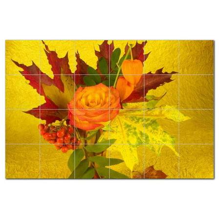 Flower Picture Ceramic Tile Mural Kitchen Backsplash Bathroom Shower 4
