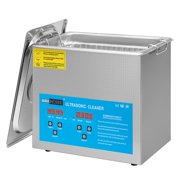 Professional Ultrasonic Parts Cleaner Machine with Digital Timer and Heater for Jewelry Watch Coin Glass Circuit Board (3L)