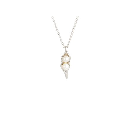 Sterling Silver 16 Inch Choker (Sterling Silver Two Peas in a Pod Necklace, 16)