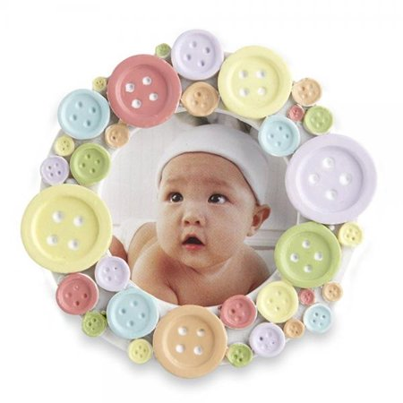 Kate Aspen Round Photo Frame, Cute as a - Cute As A Button Frame