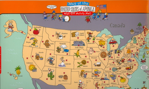 The United States Wipe Off Map