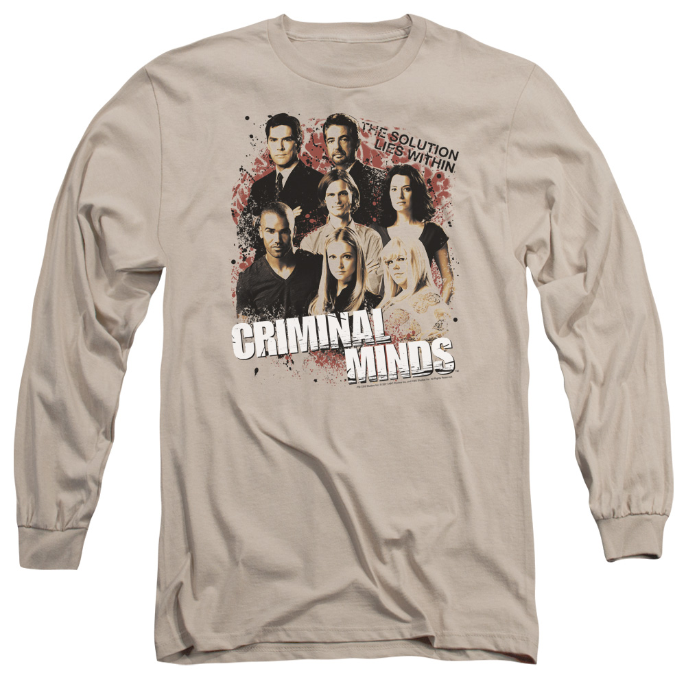 Trevco Criminal Minds Solution Lies Within Mens Long Slee...