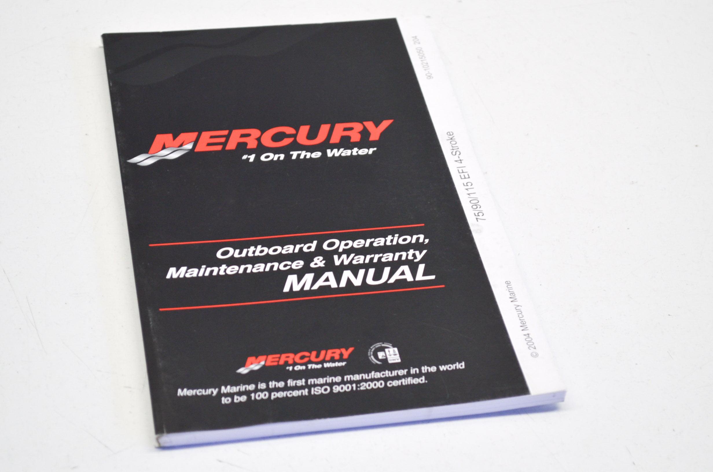 Mercury 90-10215050 75/90/115 EFI 4-Stroke Outboard Operation Manual QTY 1  - Walmart.com