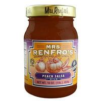 Mrs. Renfro's All Natural Gourmet Salsa Peach Mild 16 oz
