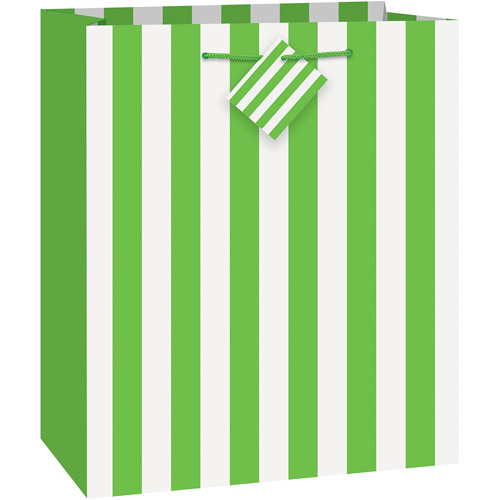 Green Striped Gift Bag