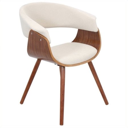 Lumisource Vintage Mod Dining Chair in Walnut and Cream - image 1 of 1
