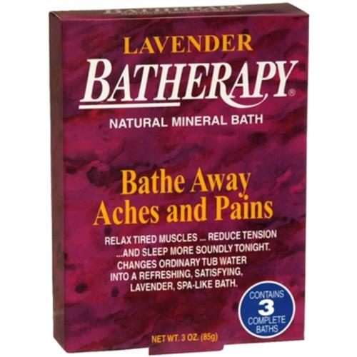 BATHERAPY Natural Mineral Bath Lavender 3 oz (Pack of 2)