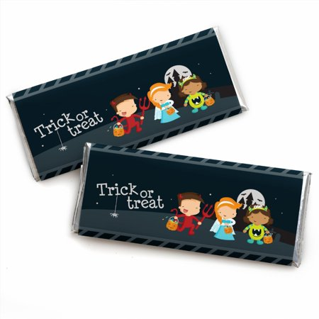 Trick or Treat - Halloween Party Candy Bar Wrappers Party Favors - Set of 24 (Easy Treats For Halloween Party)