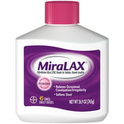 MiraLAX Laxative Powder for Gentle Constipation Relief, 45 Doses