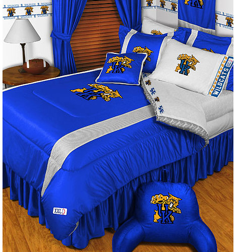 NCAA Kentucky Wildcats Comforter Pillowcase College Bedding Queen
